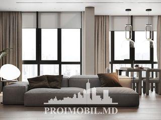 Rîșcani! 2 camere cu living, geamuri panoramice, autonomă! 85 mp