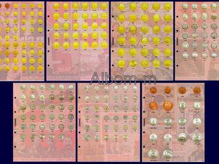 Разделительные листы для монет СССР Биметалла ГВС Бородино и других монет