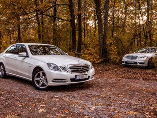 Mercedes-Benz albe/negre (белые/черные) - 15 €/ora (час) cu sofer/с водителем