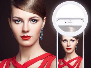 Ring Light Selfie Кольцо для качественных фото, теперь с аккумулятором!