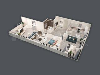 Apartament de 97,10 m2 cu 3 odăi! Basarab Residence!
