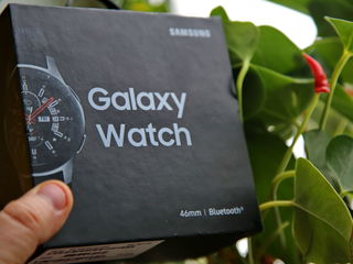 Смарт-часы Samsung Galaxy Watch SM-R800, Серебристая сталь (SM-R800NZSASER) 46мм