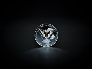50 lei — Argint — Fluturele mahaon (Papilio machaon L.) 2020 Monedă Comemorativă