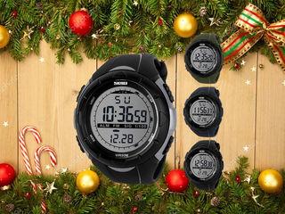 Отличный мужской подарок. Водостойкие часы Skmei. Приносите банку воды для проверки.