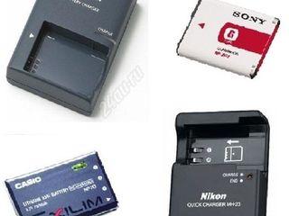 Зарядки и аккумуляторы для видеокамер и фотоаппаратов