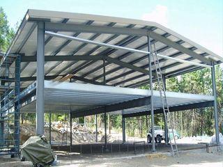 Металоконструкция дом офис сауна 200м2