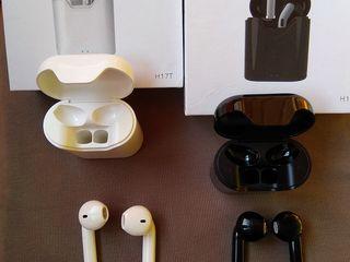 Căști Bluetooth H17T TWS: semnal sigur, sunet bun, 5 ore fără reîncărcare - 400 lei.