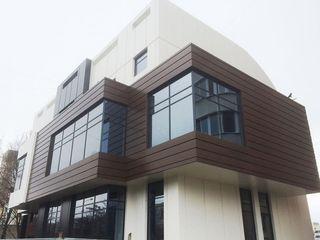 Вентилируемые фасады из керамогранитной плитки.