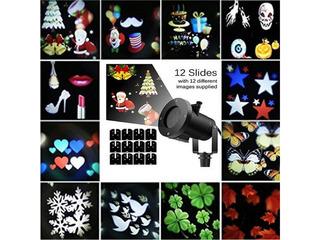 LED Garden Projector  - новогоднее освещение фасада + 12 картриджей на все праздники!