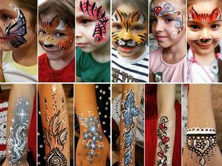 Pictura / desene pe fata pentru copii (face painting) / рисунки на лице для детей, аквагрим