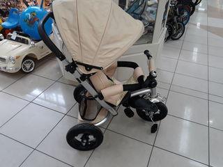 Коляска велосипед трицикл новые с надувными колесами 1650 лей.