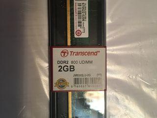 Transcend, DDR2 PC6400, 2Gb, 800MHz, UDIMM - NOUĂ în cutie!