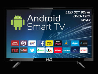 "АКЦИЯ: LED HD 32"" Smart-TV + DVB-T2 + LG panel 3099 lei!!!"