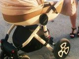 Красивая колясочка adamex  barletta alu лён