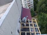 крыша балкона из профнастила 003+утепление крыши пенопласто!!!