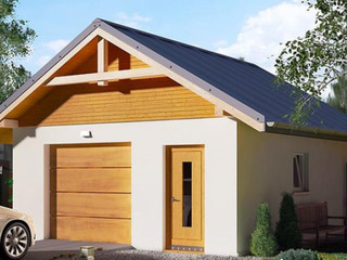 Тёплый гараж с кладовой из СИП (SIP) панелей.