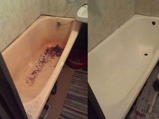 Recondiționarea baii cu acril lichid ekopel 2k !!! durata de viata  20 ani. реставрация ванн