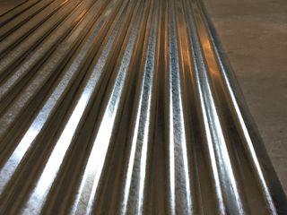 Tigla metalica cutata ondulata zincata si vopsita pentru acoperis, gard etc.