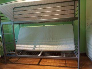 Кровать IKEA 2-ярусная кровать +матрасы ортопедические