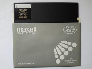 "Дискета для FDD 5.25"" - Maxell MD2-HD 1.2Mb (новая)"
