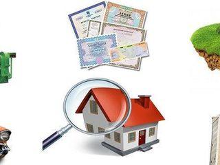 Профессиональные услуги  по оценке недвижимости и движимого имущества