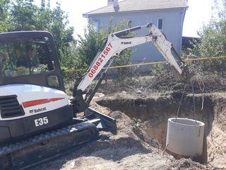 Servicii miniexcavator 3.5t, Bobcat