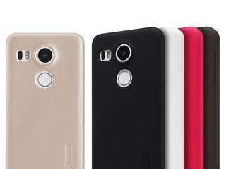 LG Nexus 5X чехол Nillkin Frosted Shield, защитная плёнка