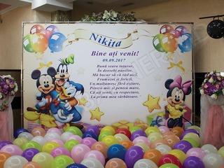 Fotopanou cu baloane, fotostand (banner) pentru corporativ, nunta, cumatrie, zi de nastere, revelion