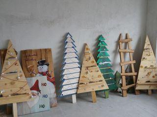 Brazi din lemn. Decoratii pentru craciun