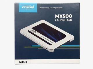 Новый запечатанный, скоростной SSD Crucial на 500гб SATA