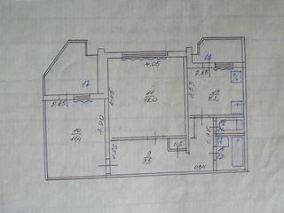 Vind  apartament cu 2 camere in Ungheni/ продаю 2-х комнатную квартиру в Унгенах!.