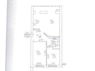 Угловая ,кухня и зал объединённые с выходом на солнечную сторону, туалет с ванной объединён