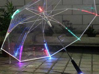Зонт с LED подсветкой и фонарем! Уникальный подарок! Супер цена!