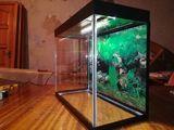 Клею аквариумы небольших объёмов для петушков и нано рыбок.