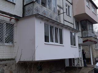 Кладка балконов из газоблоков, расширение любых серий, хрущёвка, ремонт балконов,остекление окна пвх