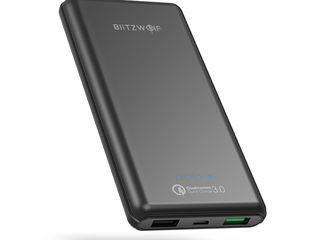 BlitzWolf BW-P6 10000mAh Power Bank поддерживает QC3.0, Apple 2.4A и Samsung AFC