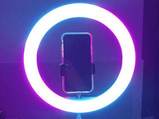 Кольцевая лампа 26 см с держателем для телефона и штативом 2м / Lampa inelara 26cm si stativ 2m