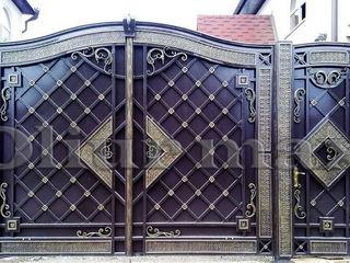 Balustrade,garduri, copertine,  porți, gratii, uși metalice ,alte confecții din fier .