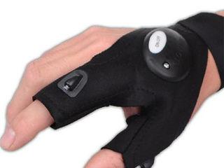 Спортивные рыболовные перчатки с 2 светодиодами для ночной деятельности!
