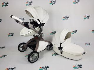Популярная и красивая коляска  Hot Mom 2в1 белая еко кожа аналог mima xari