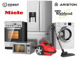 Диагностика, профилактика и ремонт бытовой техники Indesit, Whirlpool, Ariston, Miele.