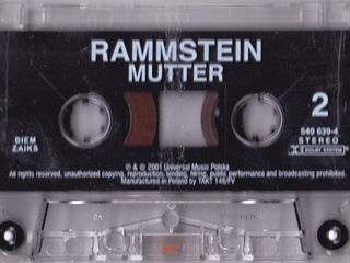 Легендарная оригинальная кассета! rammstein - mutter - 2001 cassete! 10 евро! Made in the EU.