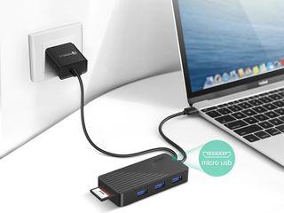 Ugreen 5 в 1 USB HUB + Card Reader + Micro USB.