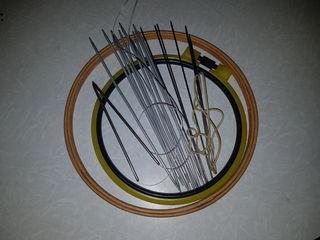 Спицы для вязания времен СССР, обручи вся вышивания