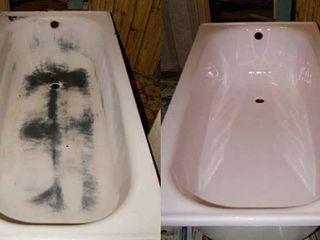 Restaurarea cazilor de baie vechi, metal, fonta ( реставрация старых ванн, чугун, метал
