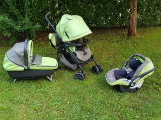 Продам коляску Peg-perego pliko p3 б/у, как на фото, 3 в одном, 150€ без торга Детская универсальная