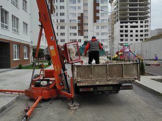 Evacuare gunoi cu hamali sau lift mobil ,Chisinua si suburbii