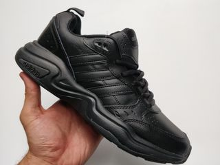 adidas all black leather