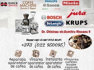 Reparația Profesională a aparatelor de cafea. Evoca Service Centru specializat. Ремонт Кофемашин.