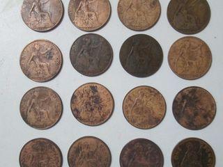 UK Великобритания One Penny 16 штук